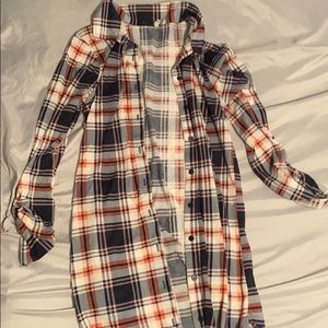 Flannel long shirt